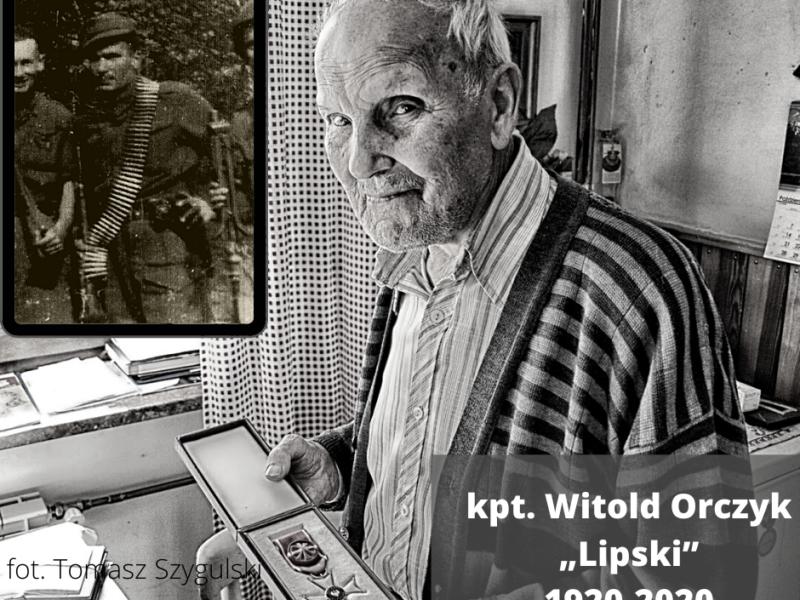 """Zmarł kpt. Witold Orczyk """"Lipski"""""""