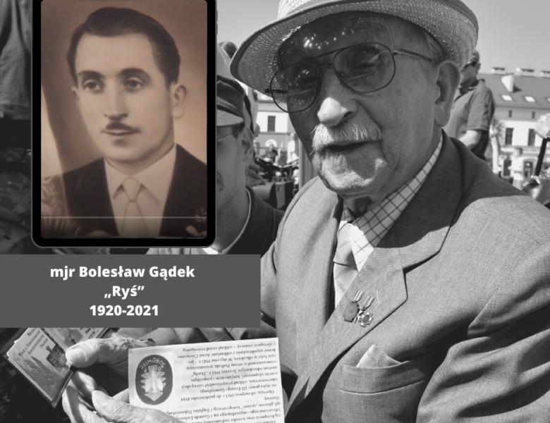 """Zmarł mjr Bolesław Gądek """"Ryś"""""""